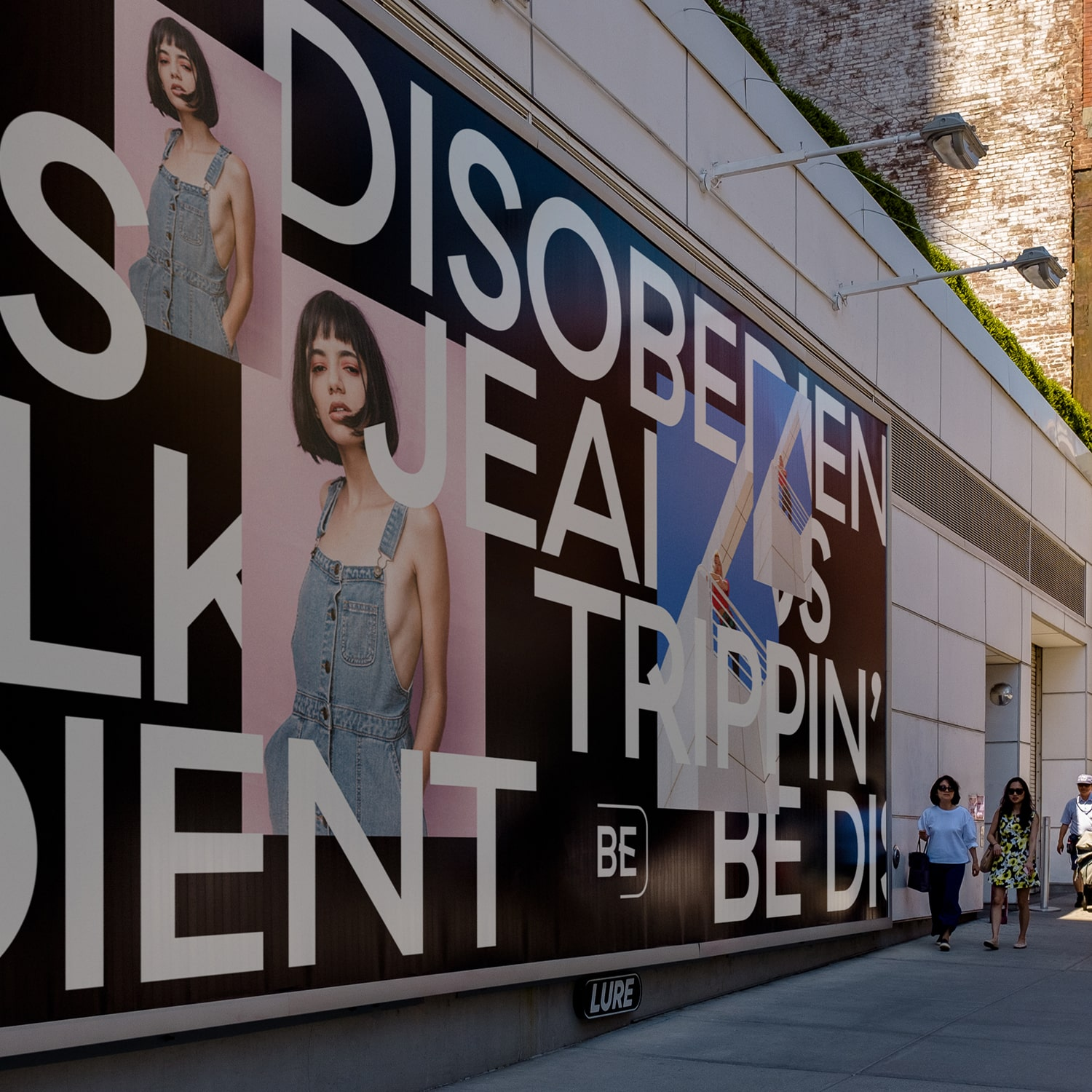 Be Disobedient logo and brand billboard