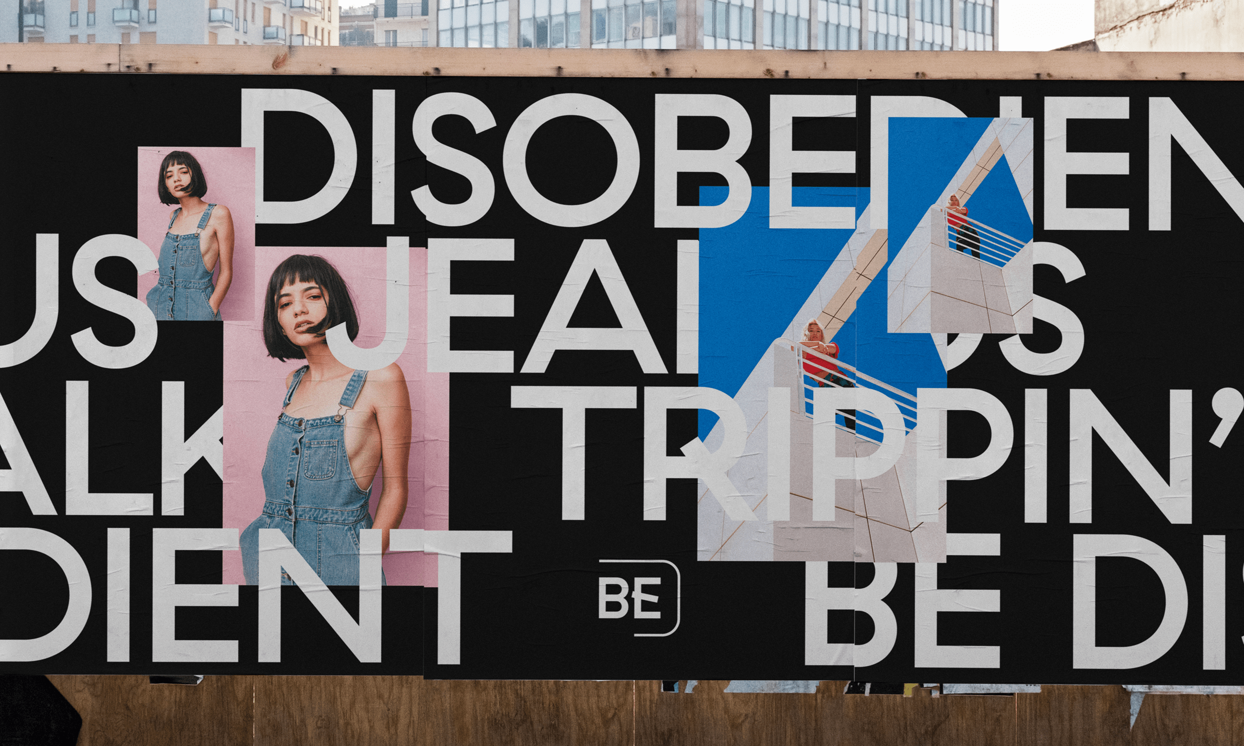 Be Disobedient poster billboard city